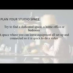 Step in Front of the Camera Tips and Tricks - Planning your Studio Space
